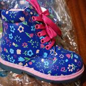 Утепленные ботинки для девочек. Последний размер! Цена прошлого года!!!