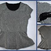 Кофточка/блузка с баской George, размер M, в горошек, Турция