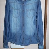 рубашка джинсовая мужская подросток