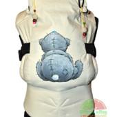 Эрго-рюкзак — Мишка Тедди (спинка) Термопринт для мальчика и девочки