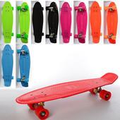 Детский скейт MS 0851 пенни,66-18,5см, алюм. подвеска, колесаПу, подшAвес-7,2цвета, макс. нагруз.60к