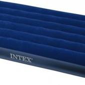 Матрас Интекс Intex надувной велюровый 68757 191 99 22см