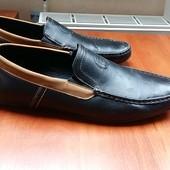 Мокасины туфли 44 размер, 29 см черные коричневые мужские