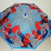 Детский новый зонт для мальчиков Человек-паук Крупный - поливинил - спицы метал