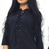 Элегантная шифоновая женская блуза