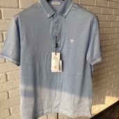 Мужская футболка голубая L