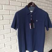 Мужская футболка синяя M L XL