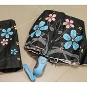 Красивенный стильный женский зонт Антиветер полуавтомат , 10 спиц карбон.