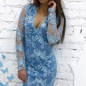 Элегантное кружевное женское платье