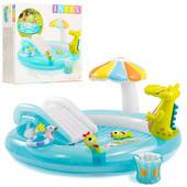 Надувной водный игровой центр Крокодильчик Intex 57129