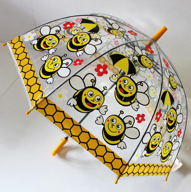 Распродажа качественный купольный прозрачный детский зонт зонтик трость для мальчика и девочки фото №1