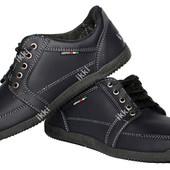 Мужские удобные мягкие туфли синего цвета (БЛ-12с)