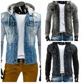 Мужская джинсовая куртка блуза