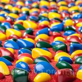 Массажный коврик с цветными камнями 150 х 40 см