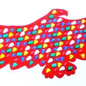 Массажный коврик массажер с цветными камнями Орел (р.148х50см)