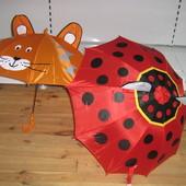Детский зонт с ушками, от 2 до 6 лет