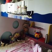 3-х спальная деревянная кровать. Италия