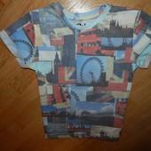 Rebel стильная футболка на мальчика 3-4 года