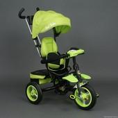 NEW 2017!!Детский трехколесный велосипед 6699 салатовый