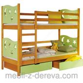 «Ярек»: двухъярусная дизайнерская, детская и подростковая деревянная кровать