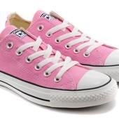 Converse all star pink low кеды розовые низкие