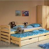 Анатоль - двухуровневая односпальная кровать из массива дерева