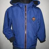 На 3-4 года Стильная куртка на флисе Rebel мальчику