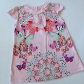 красивое платье  в бабочки р.86