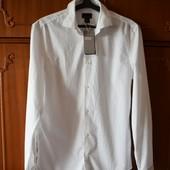 Рубашка белая H&M размер М нюанс