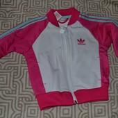 спортивная кофта Adidas оригинал на 1 год рост 80 см сост новой