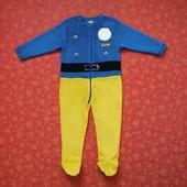 3-4 года Махровый человечек Miniclub Пожарный Сэм, б/у.