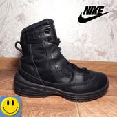 Легкие ботинки деми кожа Nike Air р. 37 стелька 23,5 см. Идеальное состояние. найк, унисекс, мужские
