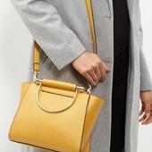 Новая стильная сумка New look горчично-желтого  цвета