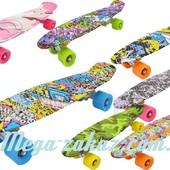 Скейтборд/скейт пенни борд (Penny Board) Lucky: 7 цветов