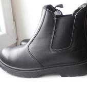 мужские кожаные ботинки в стиле челси