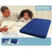 Надувной матрас Intex 68758 интекс(137х191х22см)
