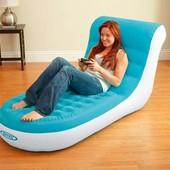 Велюр кресло-шезлонг Intex 68880