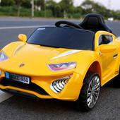 Детский электромобиль C1607 Porsche, желтый