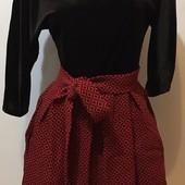 Модное платье с велюровым верхом