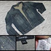 George.XXL.100% коттон.Крутая мужская джинсовая куртка.