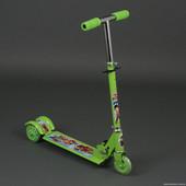 Самокат для детей Мультик 3 колеса PVC 3206, свет, металлический,