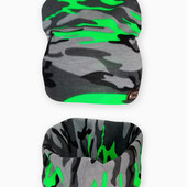 Комплект шапка с хомутом Камуфляж на ог 46-50см