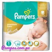 Подгузники памперсы Pampers Premium Care 2-80,3-60,4-52,5-44,Польша