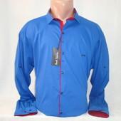 Мужская рубашка с длинным рукавом на кнопках Paul Semih, Турция. Разные цвета. Большие размеры.
