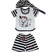 Детские летние костюмы для мальчика. Миша морячёк.