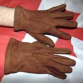 Стильние брендовие фирменние перчатки замш Франція . Nannette (Наннетте)