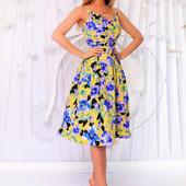 Платье с юбкой на фатине в расцветках 42,44,46 (1б