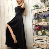 Платье в пол шелковое в расцветках С и М (1б