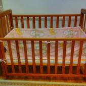 Кровать детская+матрас+