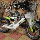"""Детский беговел (велобег) Azimut Balance Air 12""""зеленый"""